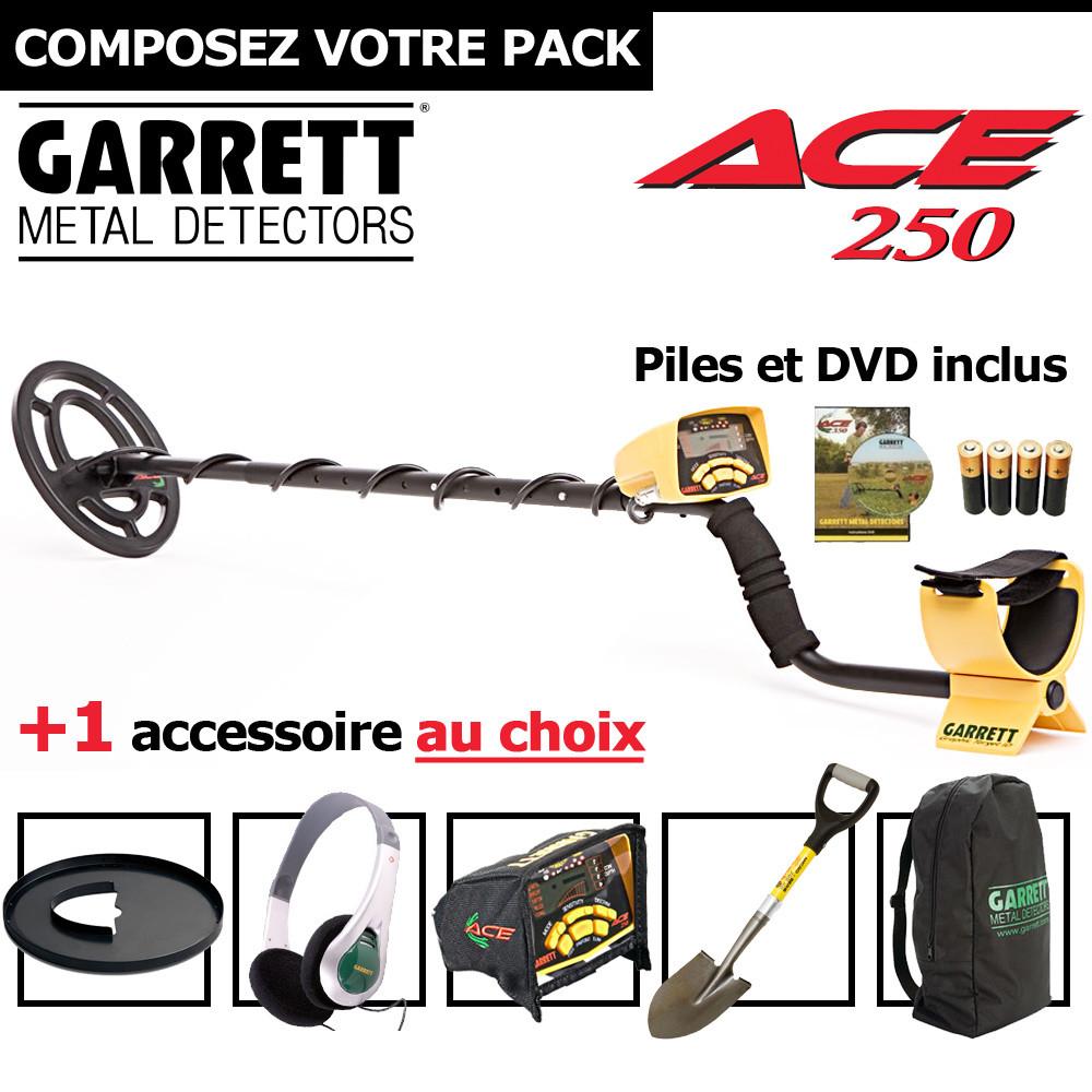 Garrett ACE 250 + 1 accessoire au choix