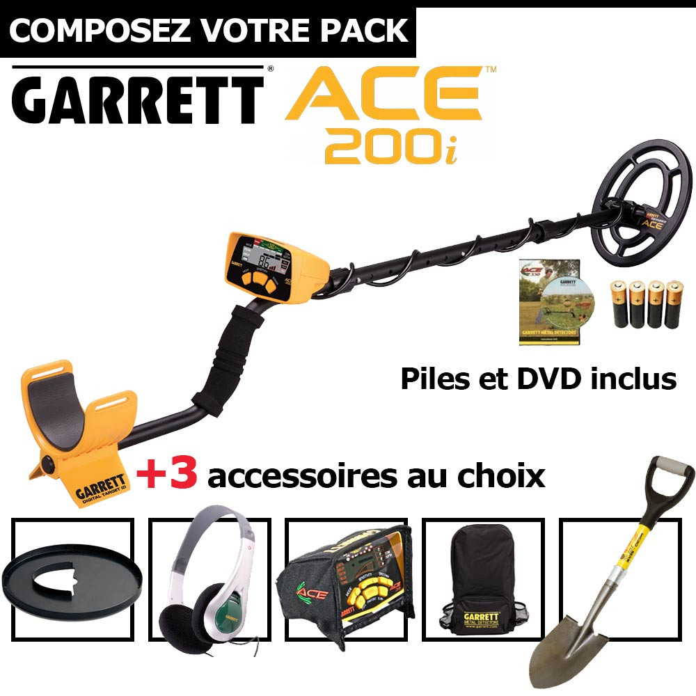 Garrett ACE 200i + 3 accessoires au choix