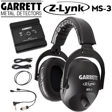 Casque sans fil Garrett MS3 Zlynk + émetteur