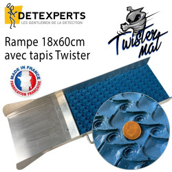 Rampe d'orpaillage pour débutant avec tapis Twister
