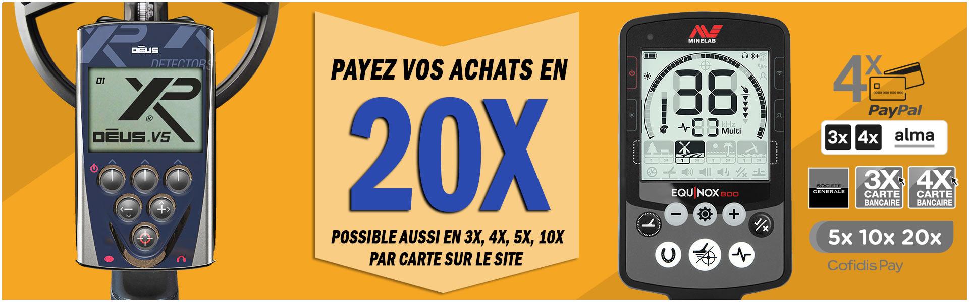 payez votre détecteur en 20X chez prospector