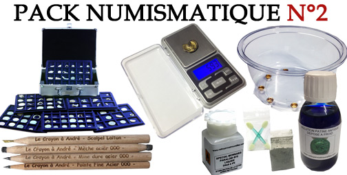 Promotion Pack 2 accessoires numismatiques et nettoyage monnaies