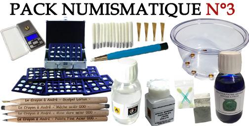 Promotion Pack 3 accessoires numismatiques et nettoyage monnaies
