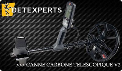 Canne carbone pour detecteur
