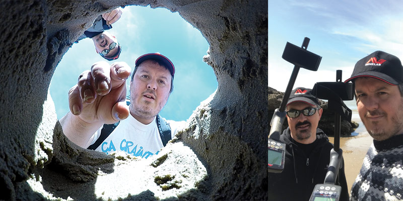 detection à la plage avec un detecteur minelab equinox