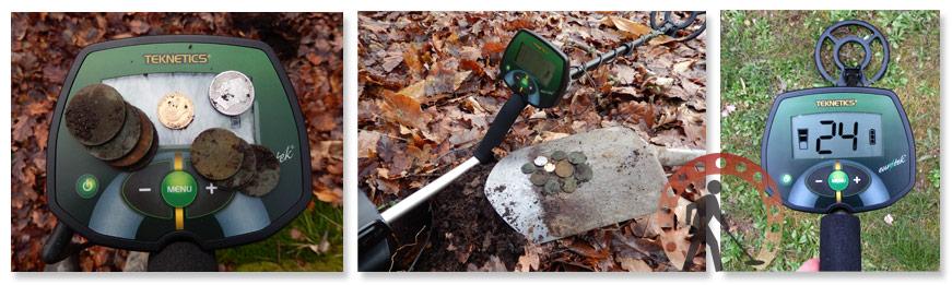 Monnaies fibules or detecteur de métaux teknetics eurotek