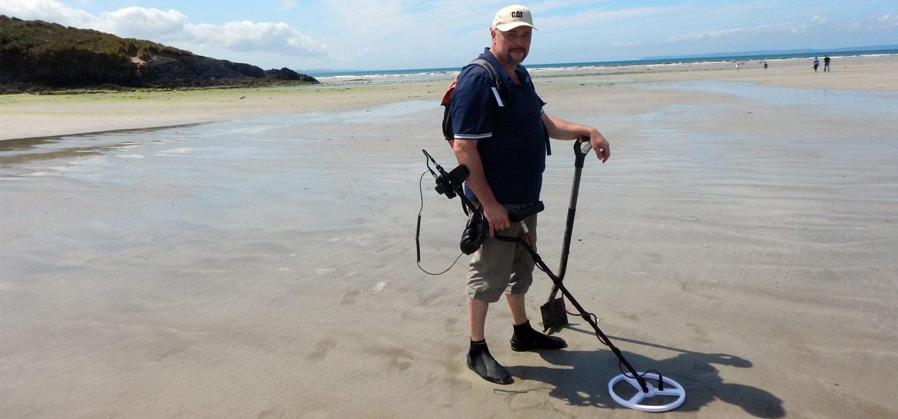 Mudy Diver teste l'impulse à la plage