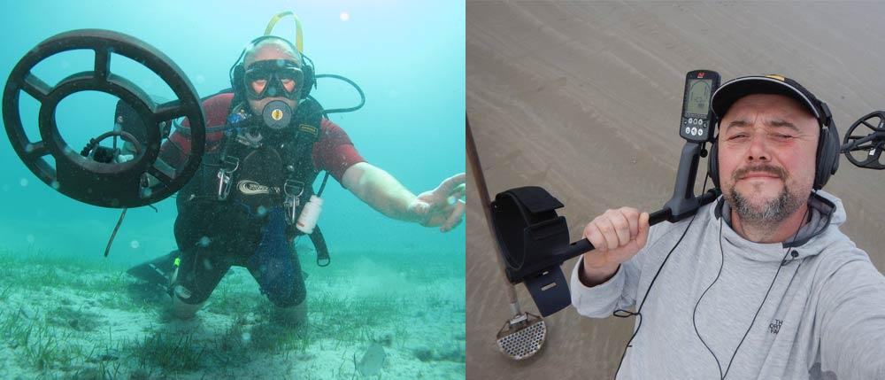 Le Fouilleur et Mudy Diver testent les détecteurs de metaux à l plage et en plongée