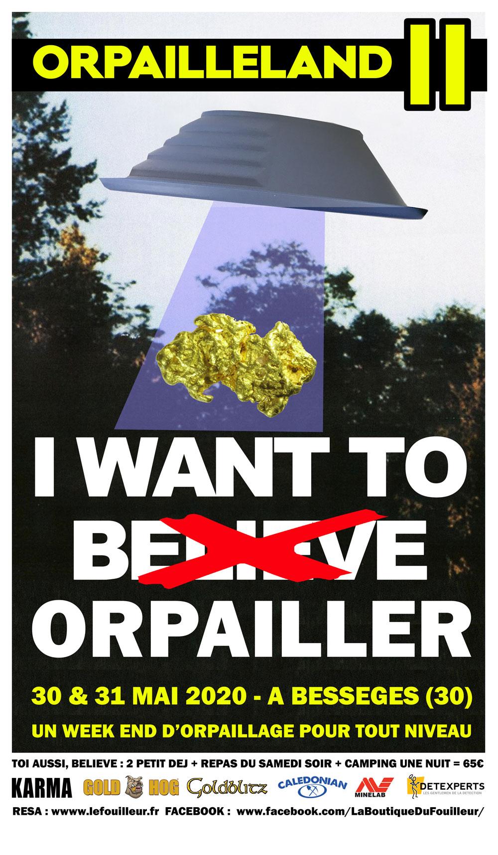 Affiche Rallye Orpailleland 2020