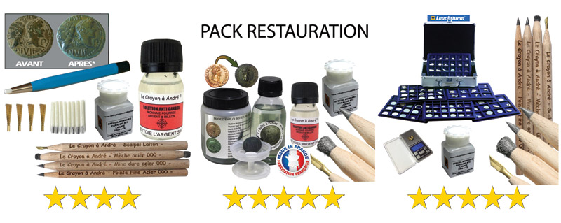 Promotions packs nettoyage et restauration numismatique
