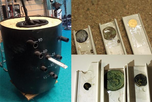 Cube de test de profondeur pour détecteur de metaux