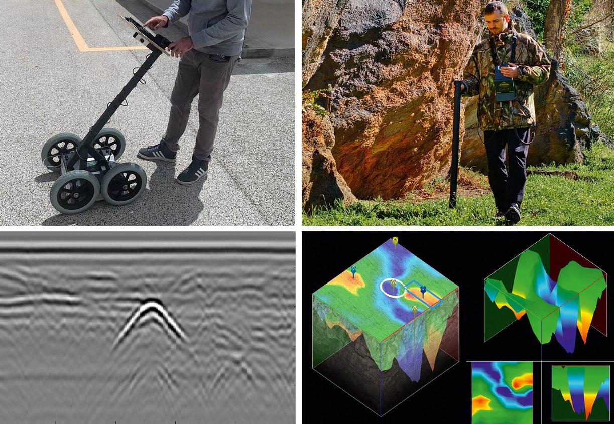 Scans d'un radar de sol et scan d'un scanner 3D
