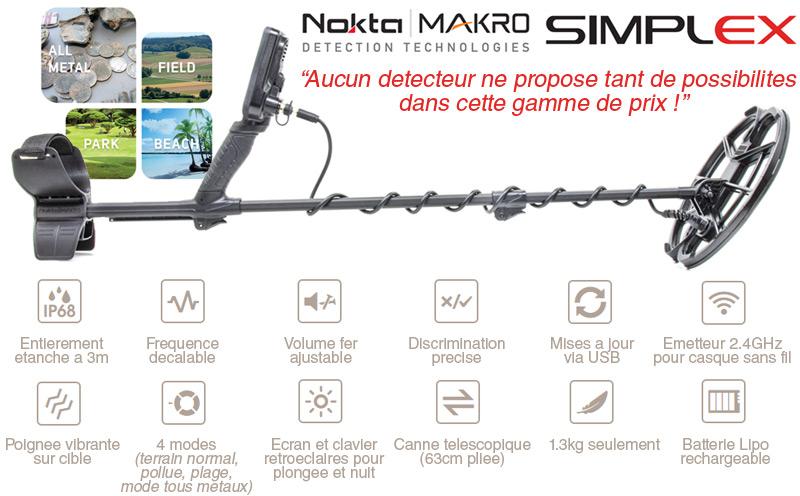 Caracteristiques du Simplex de Nokta Makro