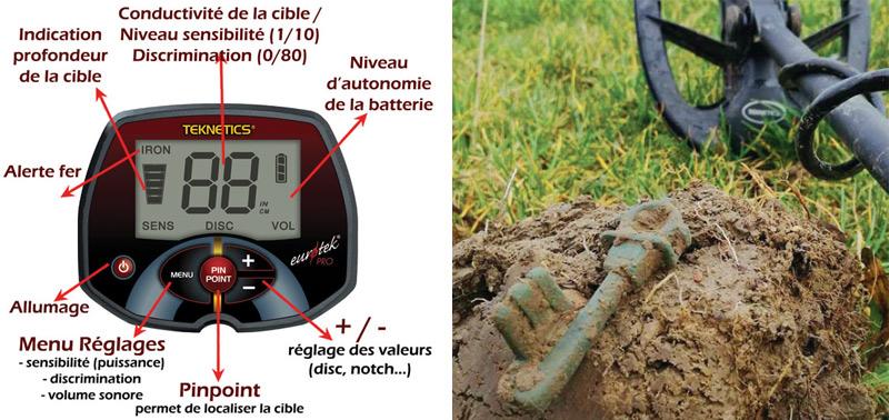 reglages detecteur teknetics eurotek pro