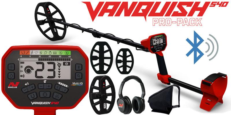 Détecteur Minelab VANQUISH 540 propack avec 2 disques  et casque sans fil
